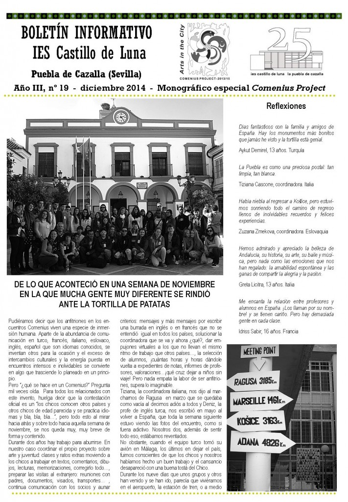 Boletín Comenius DIC.14