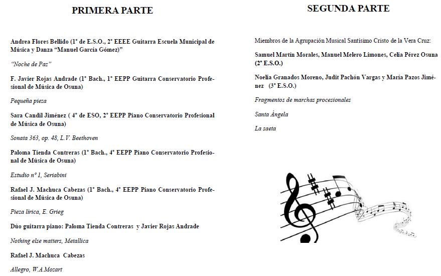 Programa cocierto Santa Cecilia
