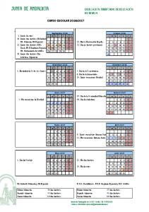 Calendario Sevilla